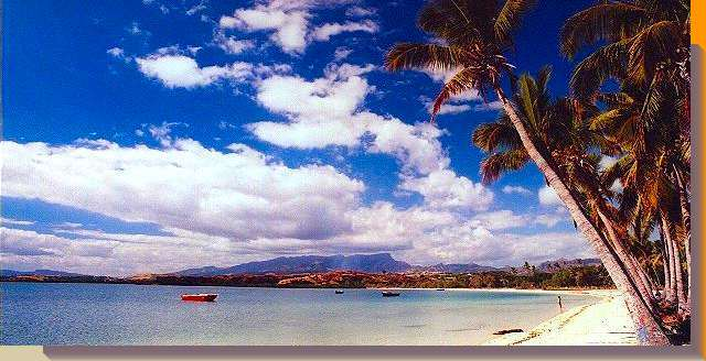 picture postcard from saweni beach, fiji islands